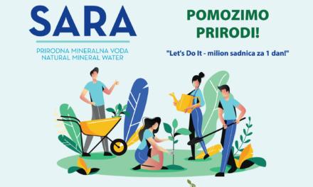 Kupovinom vode SARA podržite projekt Let's Do It – milion sadnica za jedan dan!