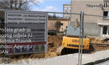 VIDEO: Počela gradnja novog odjela JU Bolnica Travnik