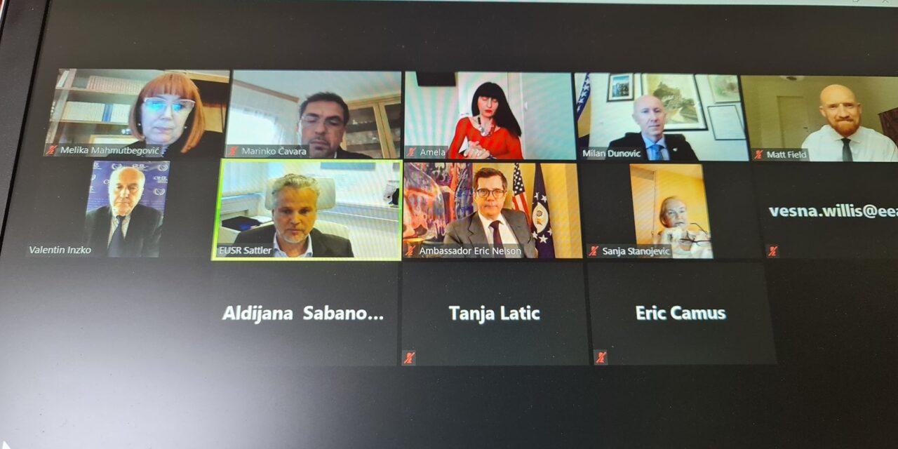 Održan video sastanak na temu imenovanja članova Povjerenstva za vrijednosne papire FBiH