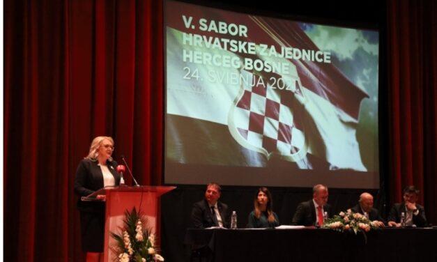 Lidija Bradara izabrana je za predsjednicu sabora Hrvatske zajednice Herceg – Bosne
