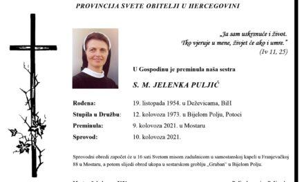 PREMINULA S.M. JELENKA PULJIĆ
