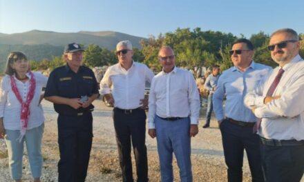 Predsjednik HDZ-a BiH Dragan Čović i ministar Grlić Radman obišli požarom pogođena područja