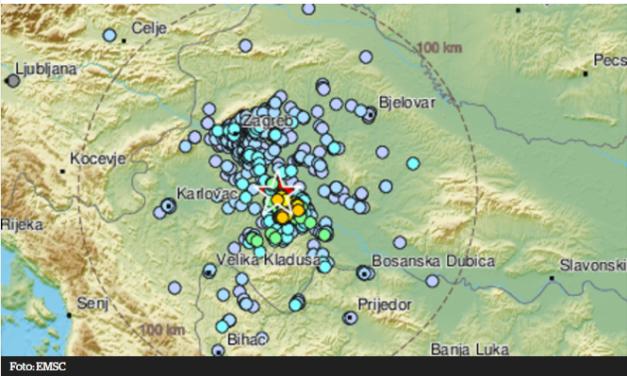 Potres kod Siska jačine 4,1 stupanj Rihtera, osjetio se i u BiH
