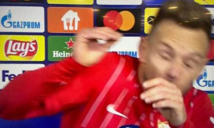 VIDEO Luđak gađao Rakitića čašom piva tijekom intervjua?