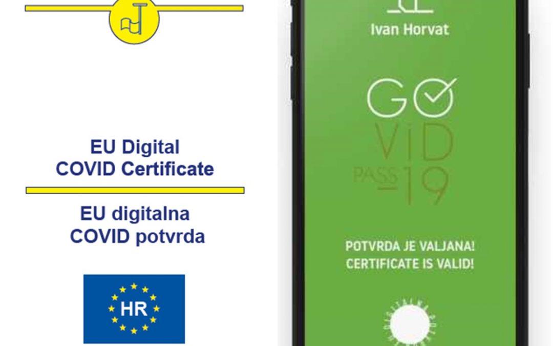 RH: EU DIGITALNE COVID POTVRDE OD JUČER VRIJEDE 365 DANA